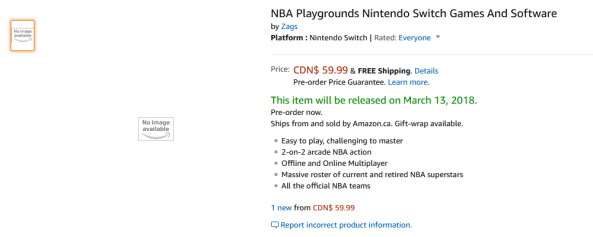 NBA Playgrounds Amazon Canada